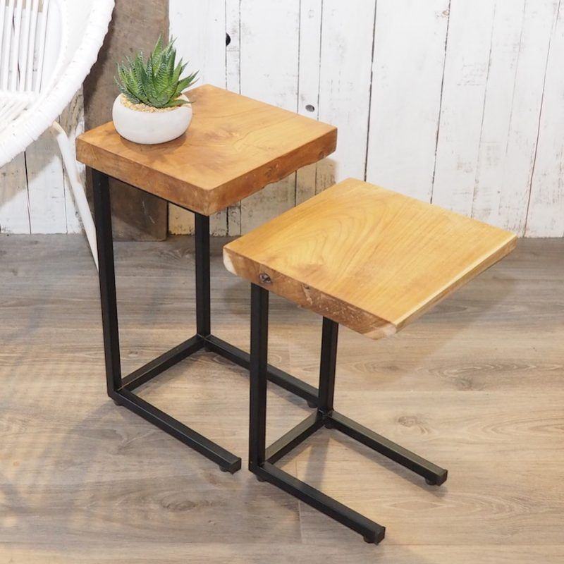 Industrial Side Table Tree Trunk Industrial Side Table Reclaimed Wood Coffee Table Wooden Side Table