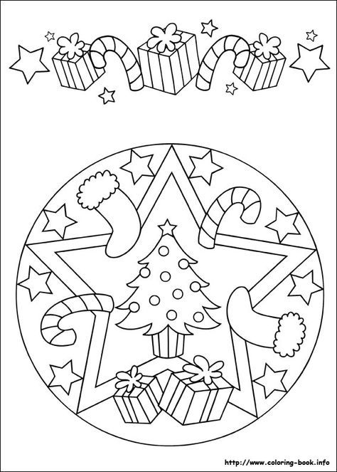 christmas mandala coloring page for kids - Christmas Mandalas Coloring Book