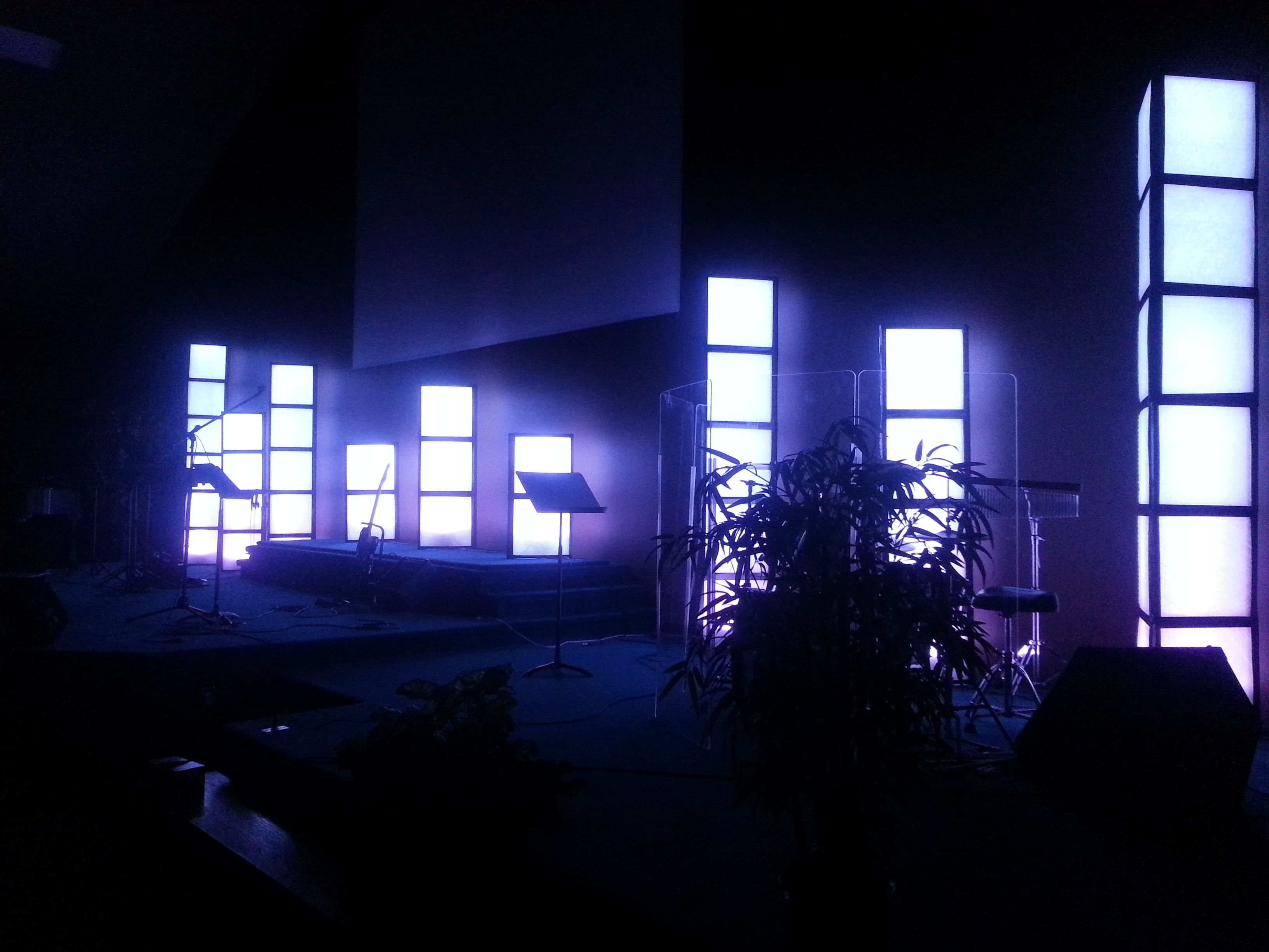 Furnace Filter Light Towers Christmas Church Stage