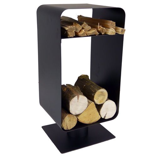 Freestanding log stores and holders are the perfect fireside ...