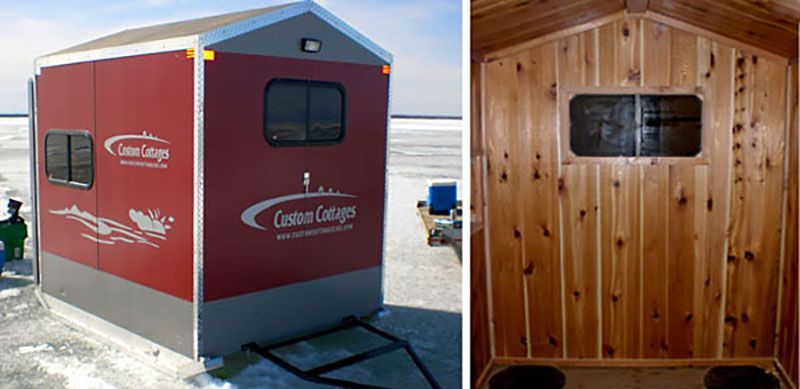 Custom Cottage Fish House For Sale Ice Fishing House Fish House Shelter Design