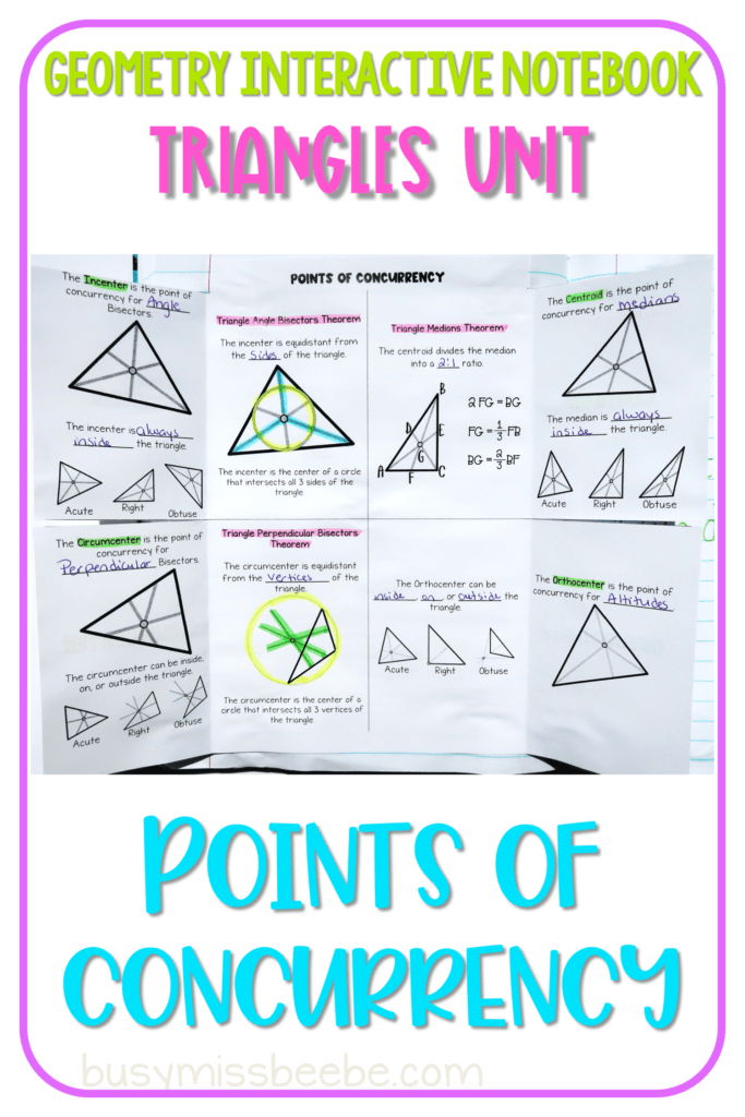 Read All About How To Teach A High School Geometry Unit On Triangles Using An Interact In 2021 Geometry Interactive Notebook Interactive Notebooks Geometry High School
