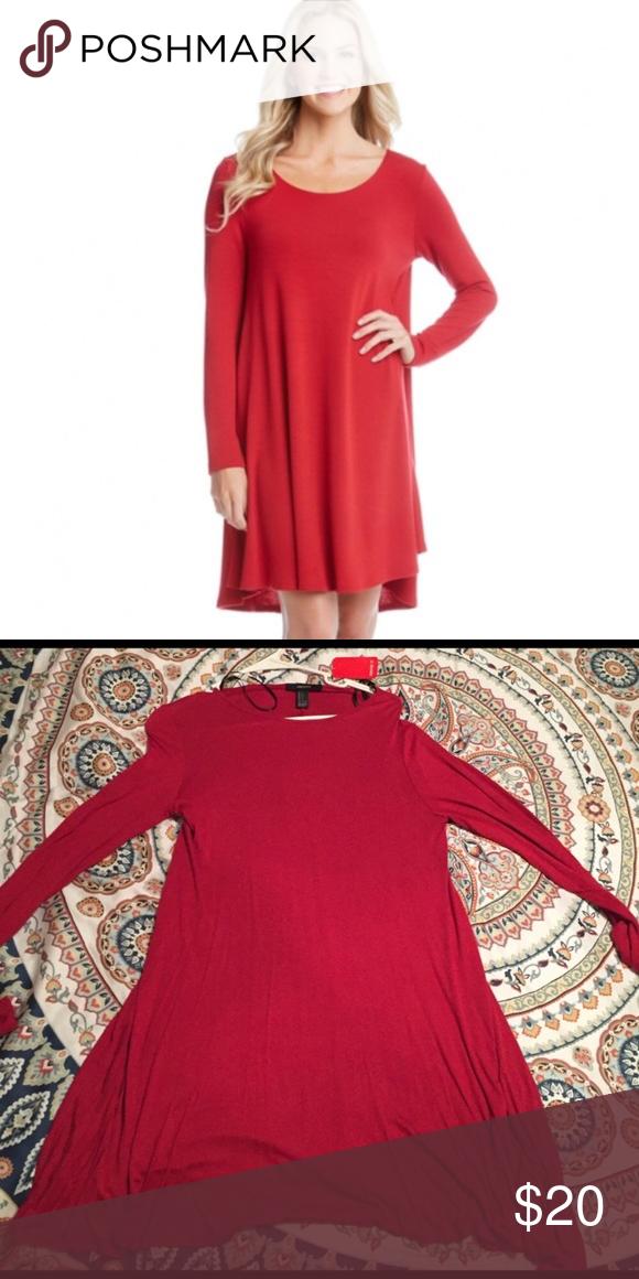 379897467166 Forever 21 red long sleeve trapeze dress . Forever 21 Dresses Long Sleeve