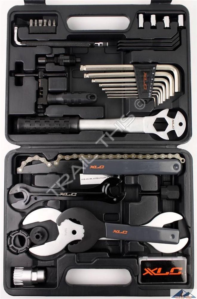Xlc 33 Piece Pro Home Bicycle Mechanic Tool Kit Repair Set W