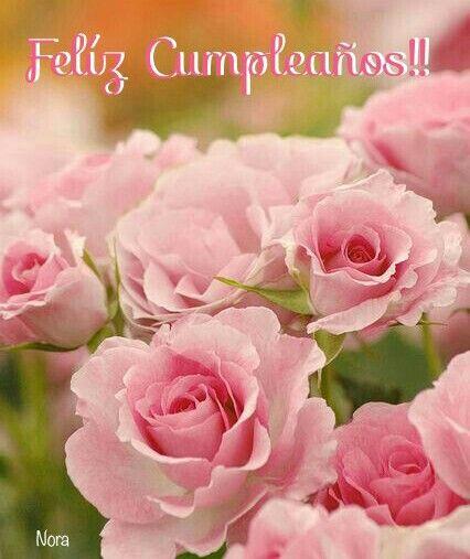 Postales de feliz cumpleanos rosa