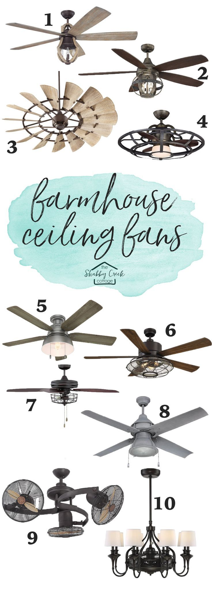 The Best Farmhouse Style Ceiling Fans (starting under 200