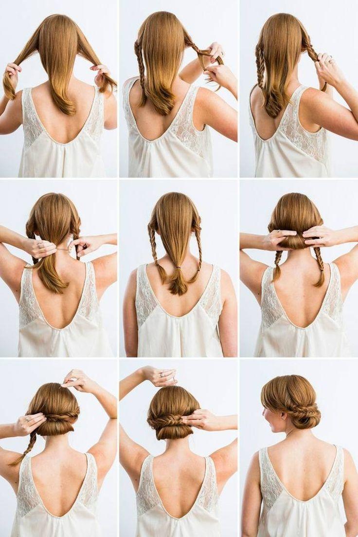 Eine einfache und elegante Hochsteckfrisur die schnell gemacht ist #coiffure