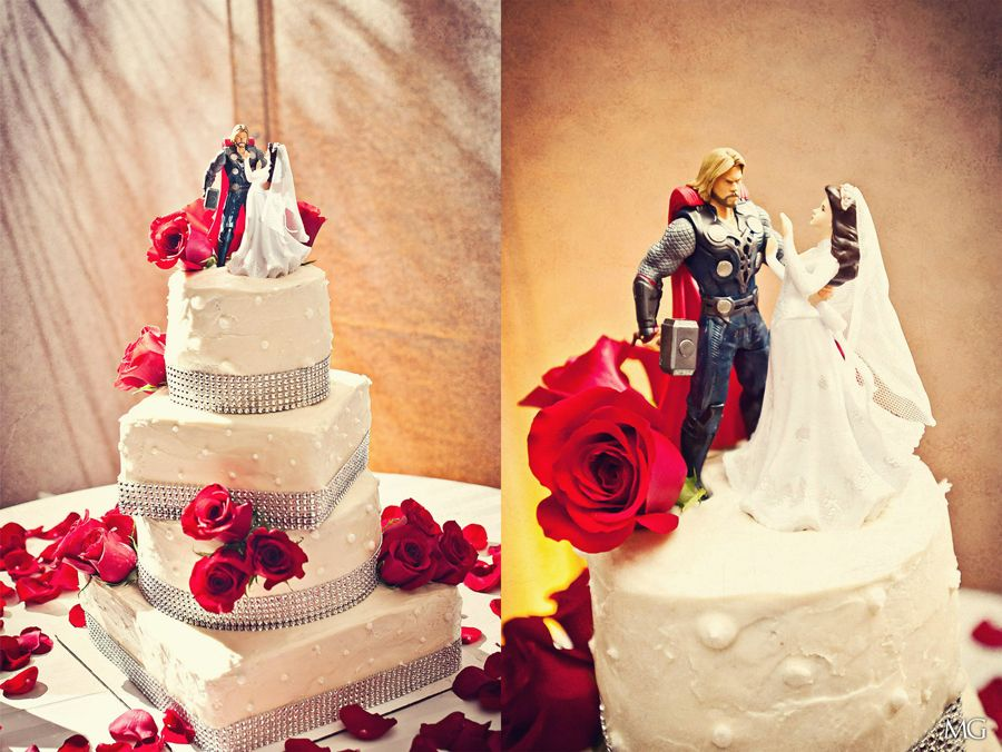 Thor Rescued Bride Cake Topper