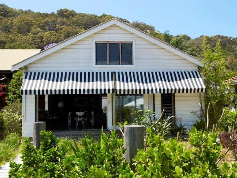 Love The Black And White Awnings Beautiful Homes