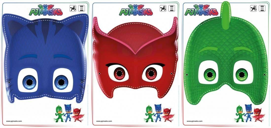 image about Pj Mask Printable Template titled Printables - PJ Masks Owlette, Gekko, Catboy Masks