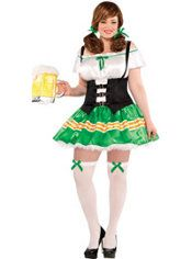 Kiss Me Beer Maid Costume Plus Size