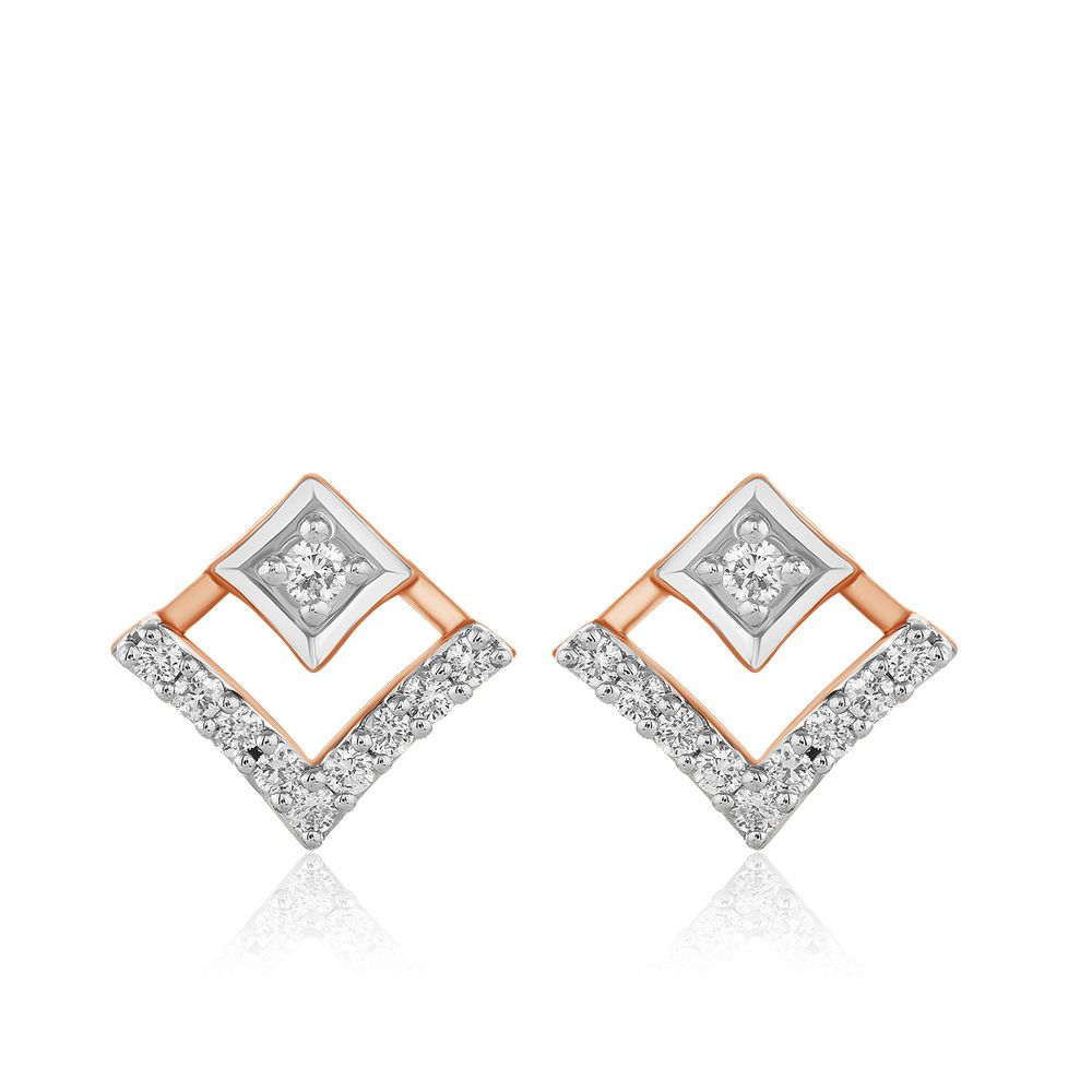0 10 Ct Round Cut Real Diamond Stud Earrings Solid 14k Rose
