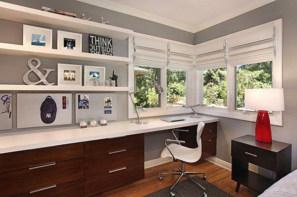 Guest Room Decorating Ideas For A Dual Purpose Space Guest Bedroom Office Guest Room Office Bedroom Office Combo