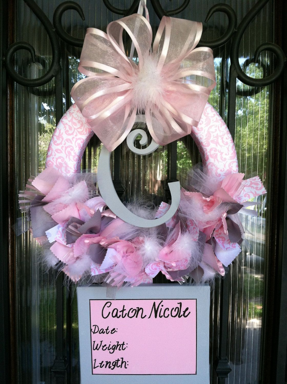 how to make baby wreaths for hospital door