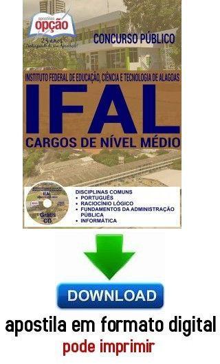 Apostila Cargos De Nivel Medio Comum A Todos Ifal Al Com