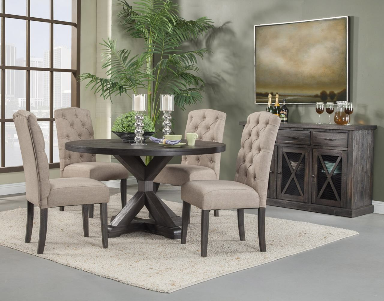 alpine furniture newberry 5 piece round dining room set in salvaged rh pinterest com dining room outlets reviews dining room outlets nec