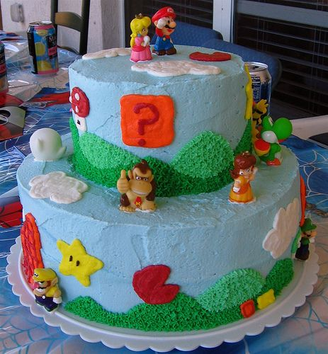 Epic Video Game Cakes Mario Birthday Cake Video
