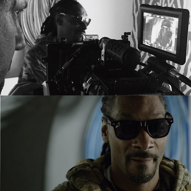 And the first shoot with the new #leica lenses is...... @snoopdogg. Good times in Vegas. #cinematographer #snoopdogg  #reddragon #r3d #directorofphotography #shotonred #setlife #onset #belinskimedia #primelens #leicalenses #dop #filmmaking #reddragon
