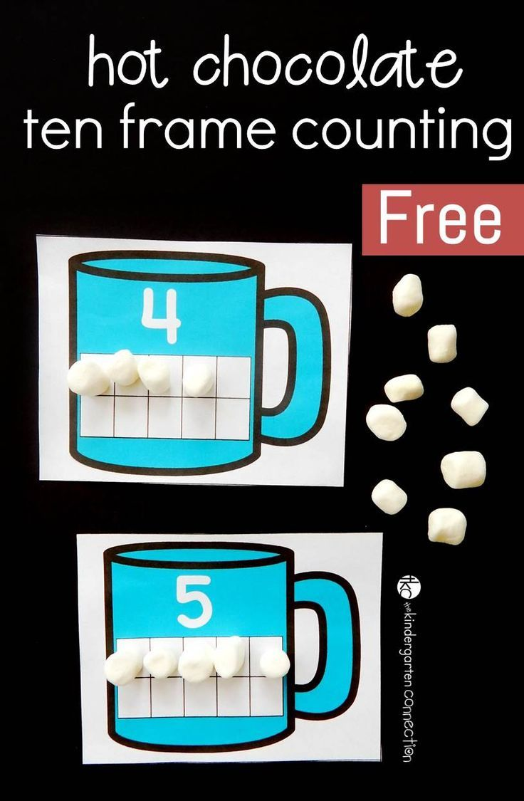 Hot Chocolate Ten Frame Cards | Ten frames, Pre-school and Students
