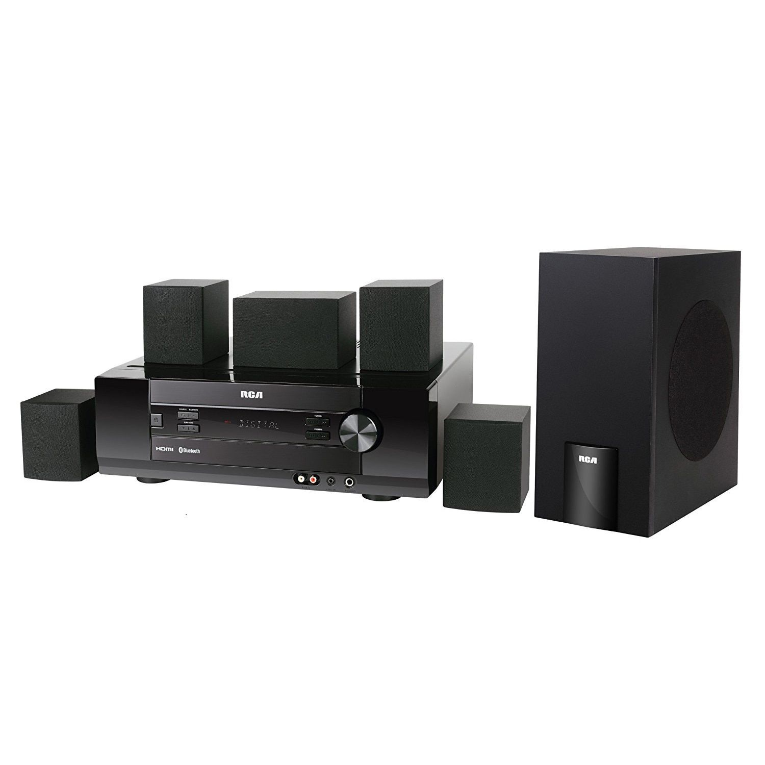 RCA 1000-watt Bluetooth Home Theater System RT2761HB | Home audio ...