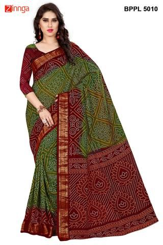 d59e86ae63 BHAIRV ONLINE-Women's Beautiful Cotton Silk Saree With Blouse Hurry-Up!@@