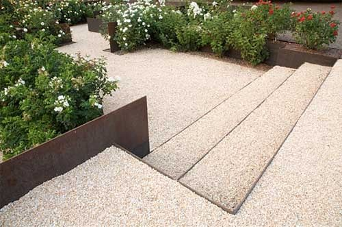 Best Platform Steps Of Fine Aggregate Retained By Steel Edging 400 x 300