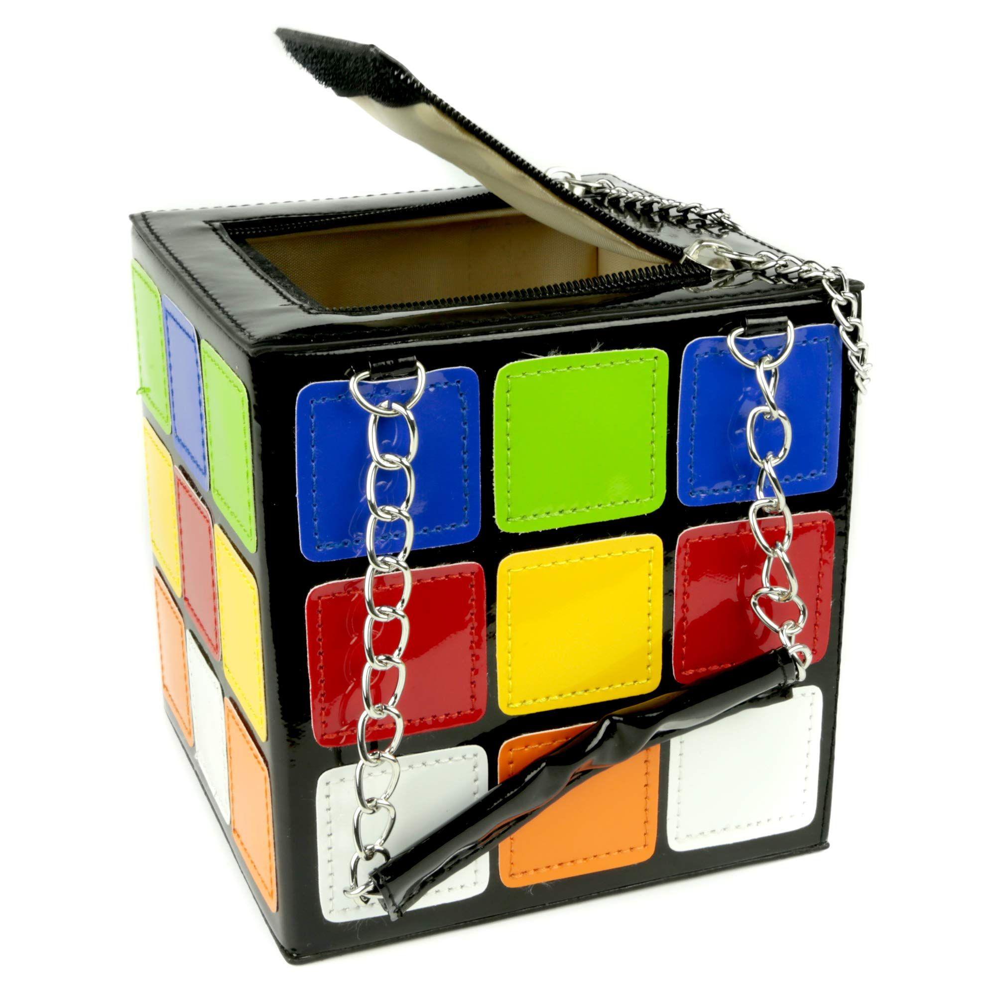 HXQ Novelty Colorful Magic Cube Handbag,Fashion Rubiks Cute Purses for Women Girl