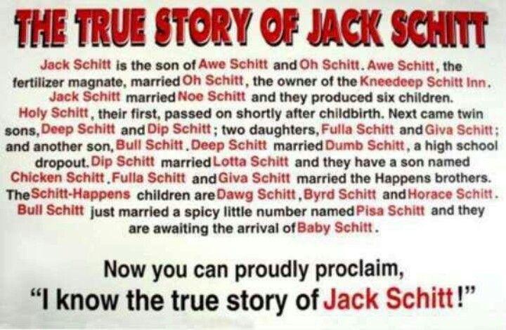 Who is jack schitt story