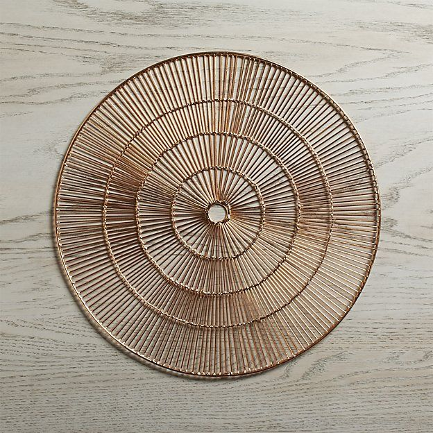 Round Copper Placemat Reviews Crate And Barrel Placemats Woven Placemats Crate And Barrel