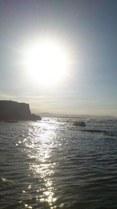 Puesta de sol en Esteiro