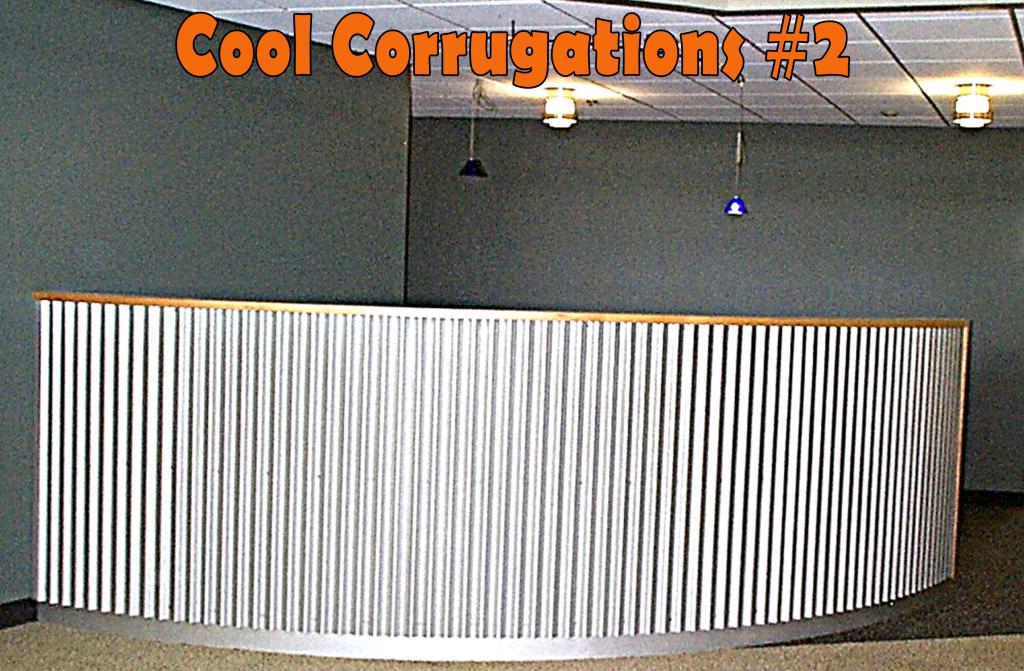 Cool Corrugations Metal Roofing Decorator Ideas Fabulous Office Hotel Reception Desk Mrnsw Corrugated Metal Wall Metal Wall Panel Aluminum Wall Panel