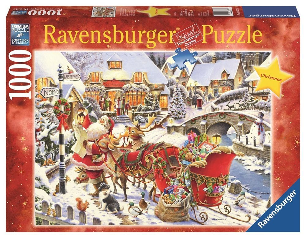 ravensburger puzzles vintage santa puzzle 1000 piece puzzles christmas gift new ravensburger - Ravensburger Christmas Puzzles