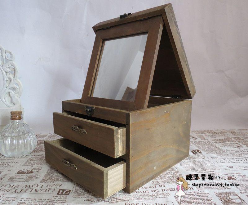 best makeup cabinet with vintage cosmetic zakka solid wood cabinet mirror drawer cabinet makeup. Black Bedroom Furniture Sets. Home Design Ideas