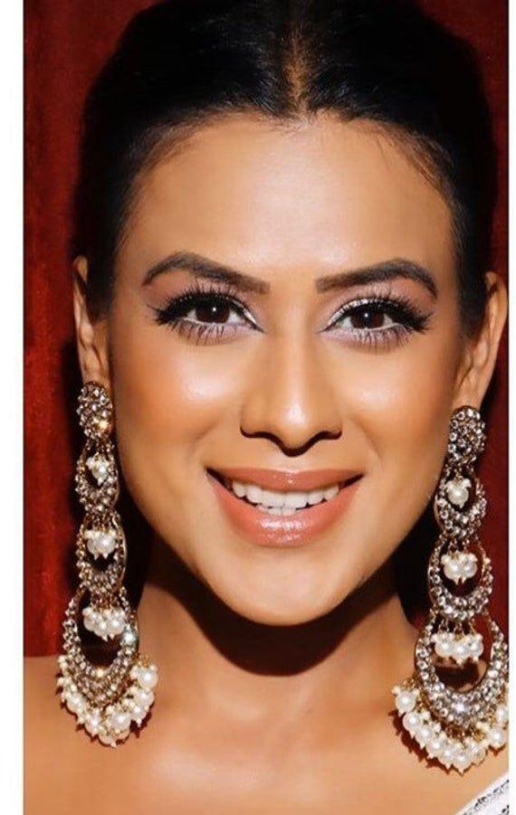 Kundan Polki Chaanbalis/ Indian Jewelry/ Indian Earrings/ Jhumkas/ Bollywood Jewelry/ Desi Jewelry/ Pakistani Jewelry