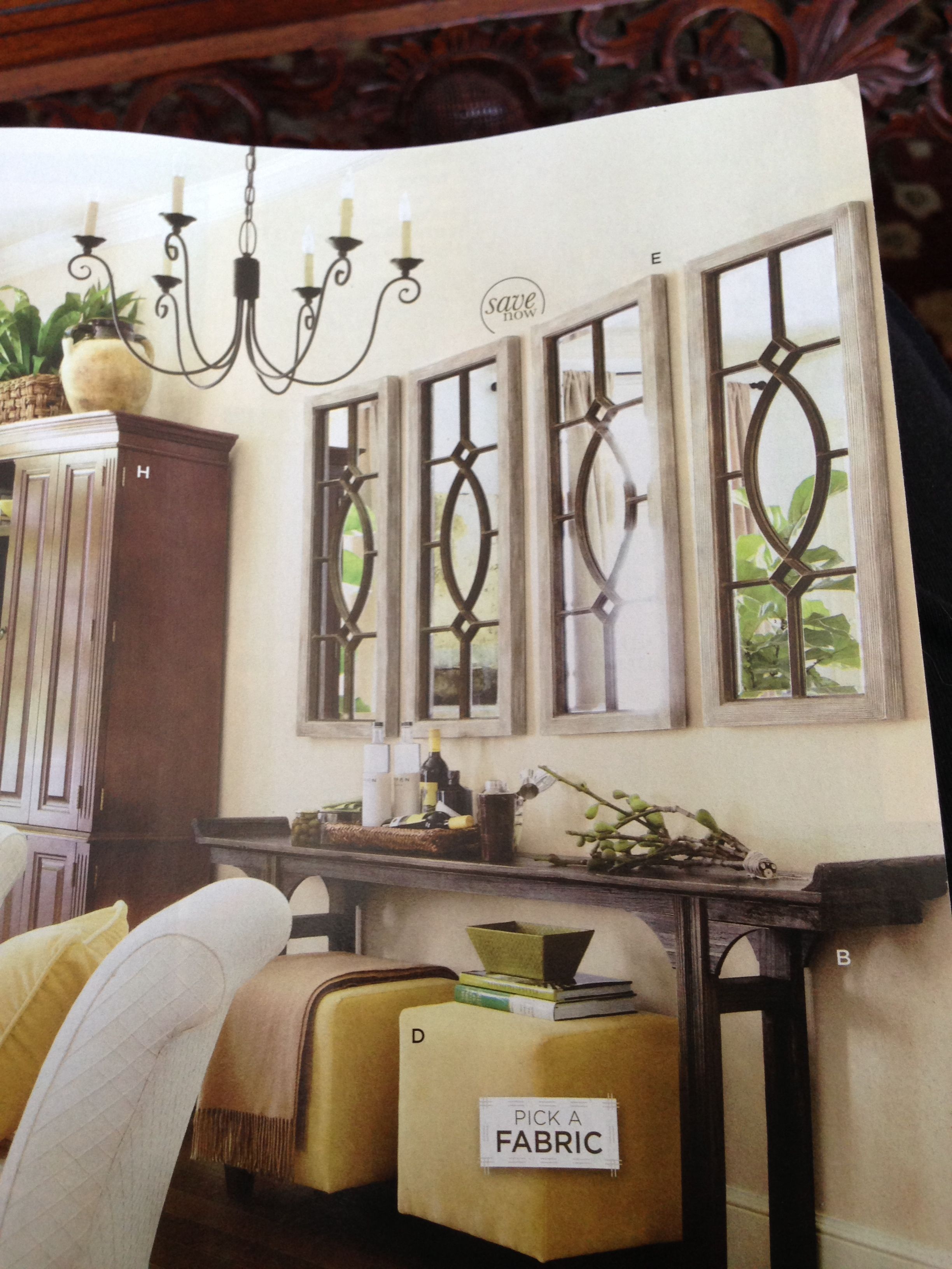 Amanda table with garden district mirrors from ballard for Ballard designs garden district mirrors