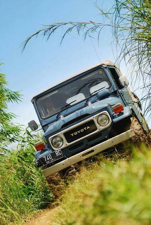 Blue Toyota Land Cruiser FJ40 Soft Top