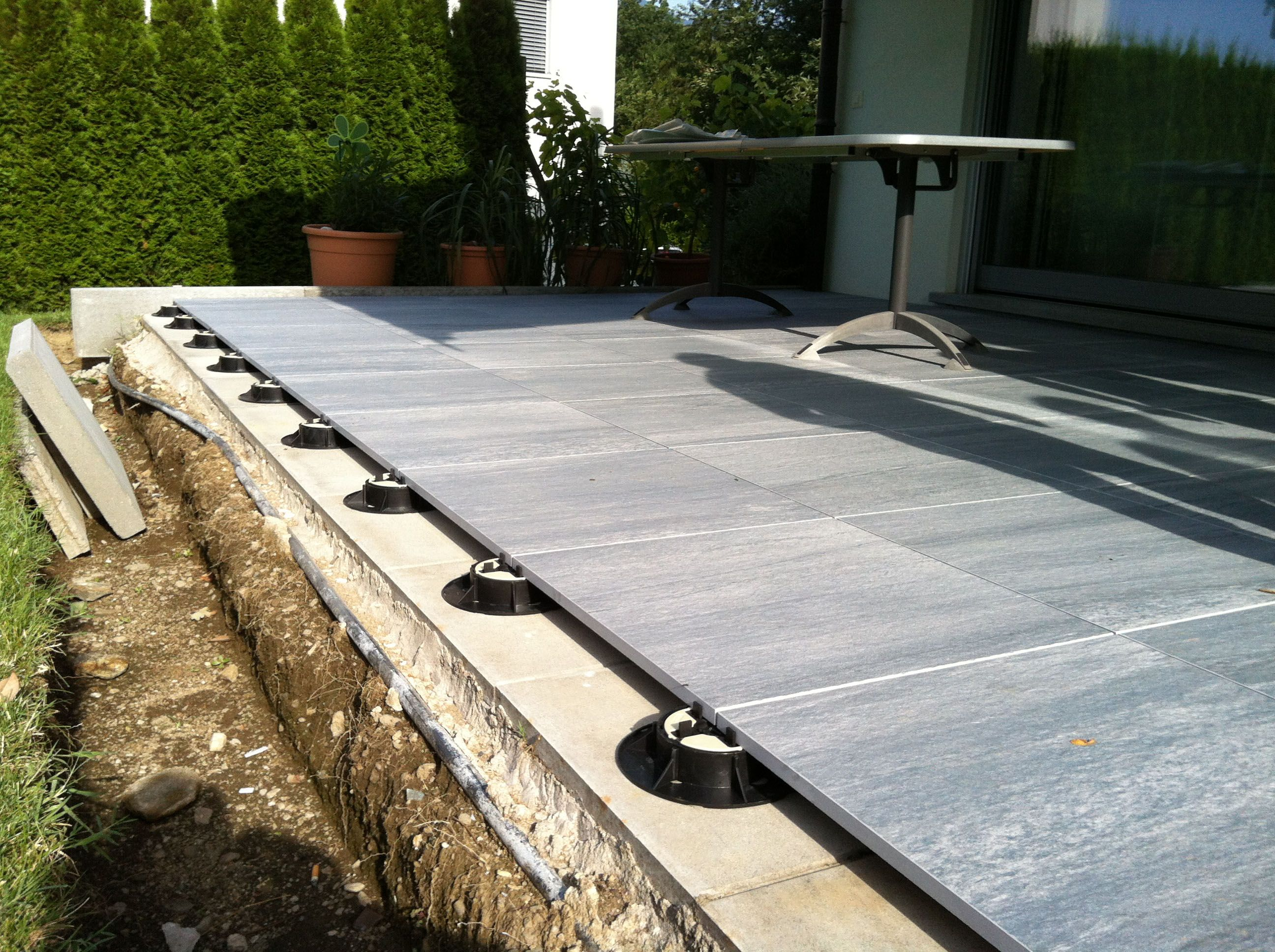 A Great Photo Showing An Outdoor Terrace Patio Laid On