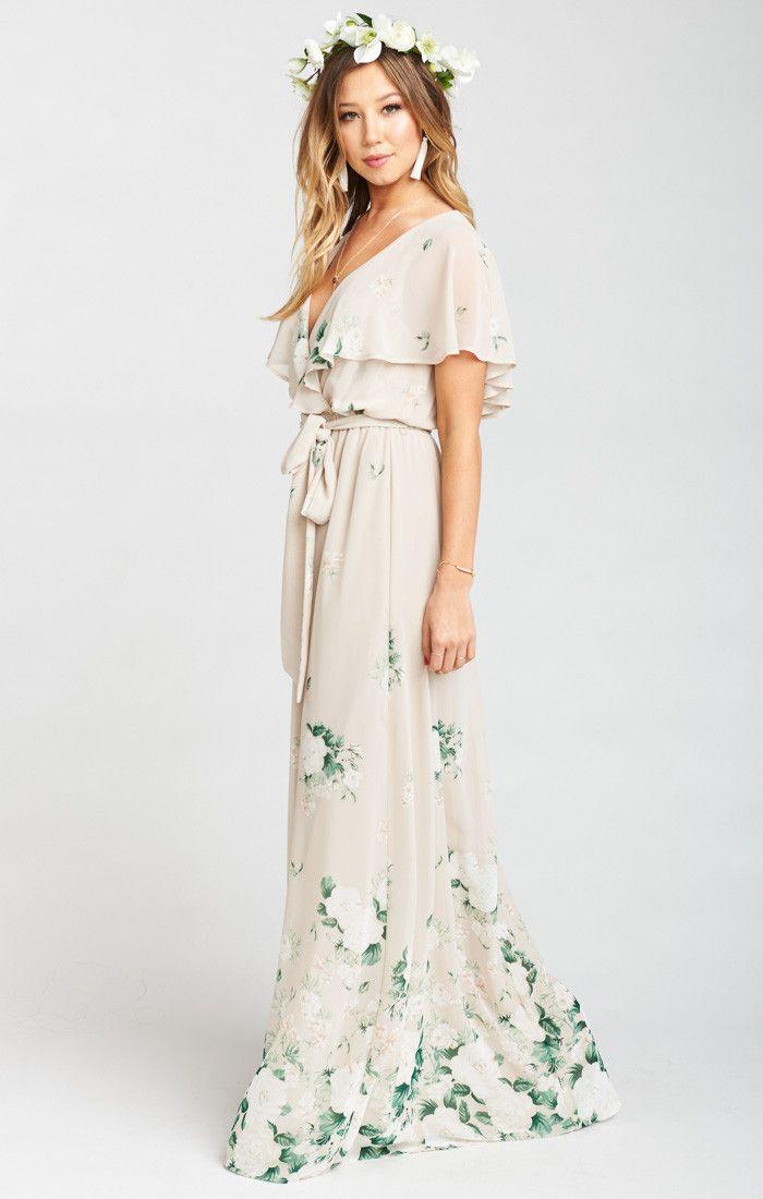 Audrey Maxi Dress ~ Bouquet Toss