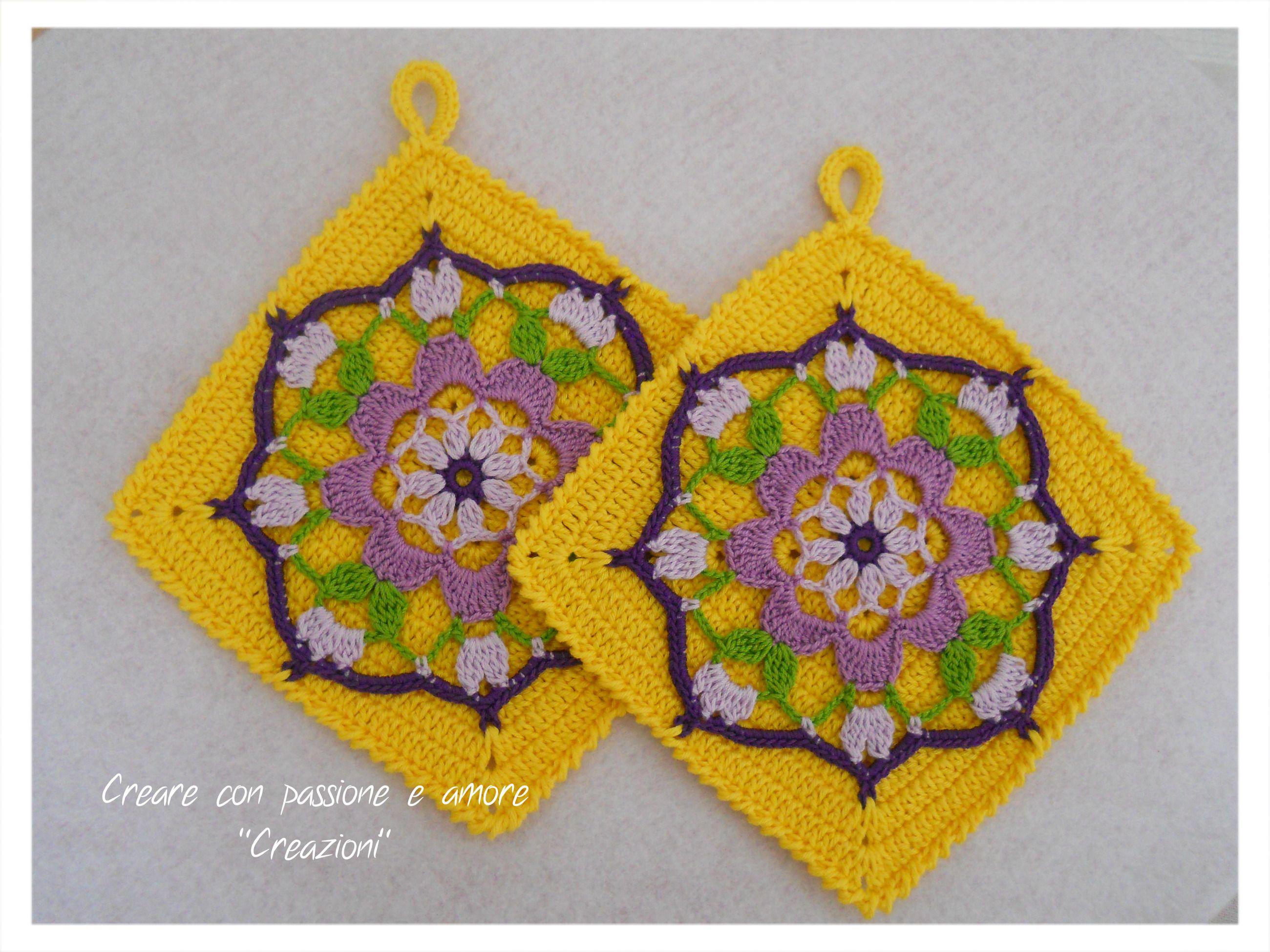 Presine Mandala Ad Uncinetto By Wwwfacebookcom Crochet