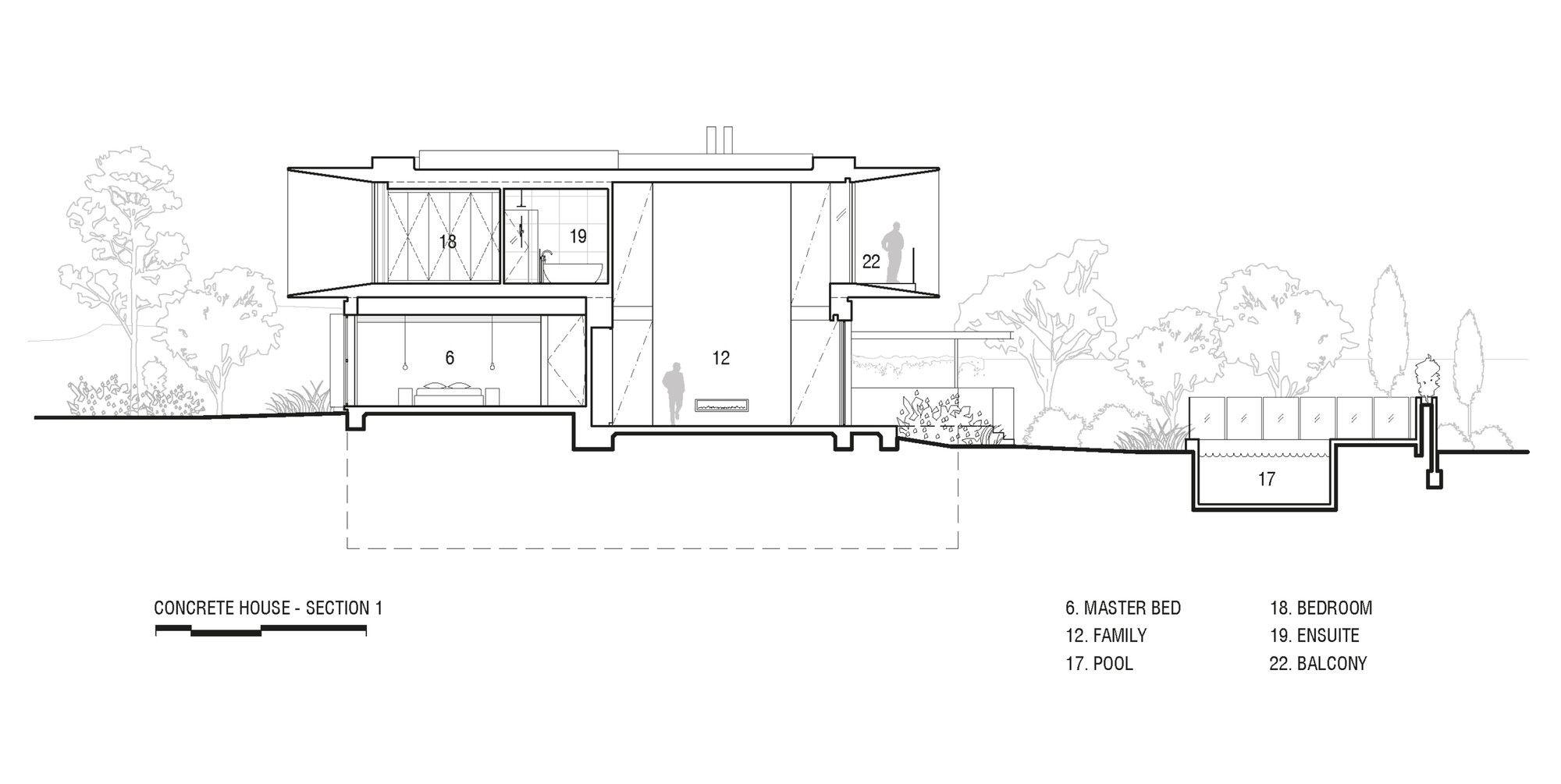 Gallery Of Concrete House Matt Gibson Architecture 24 Concrete House Architecture Concrete Houses
