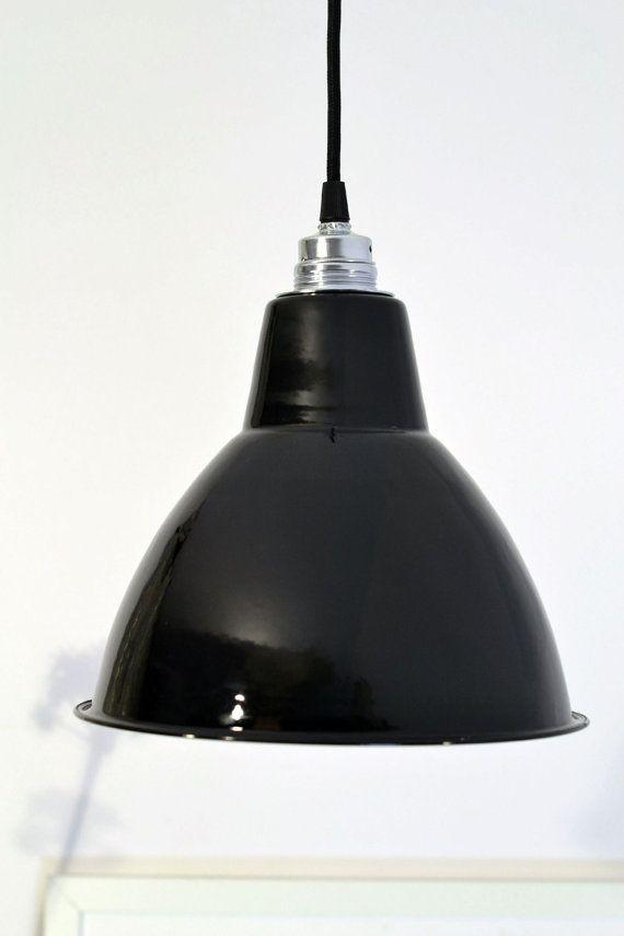 Industrial factory shade 10 enamel ceiling lighting lamp - Bauhaus iluminacion interior ...