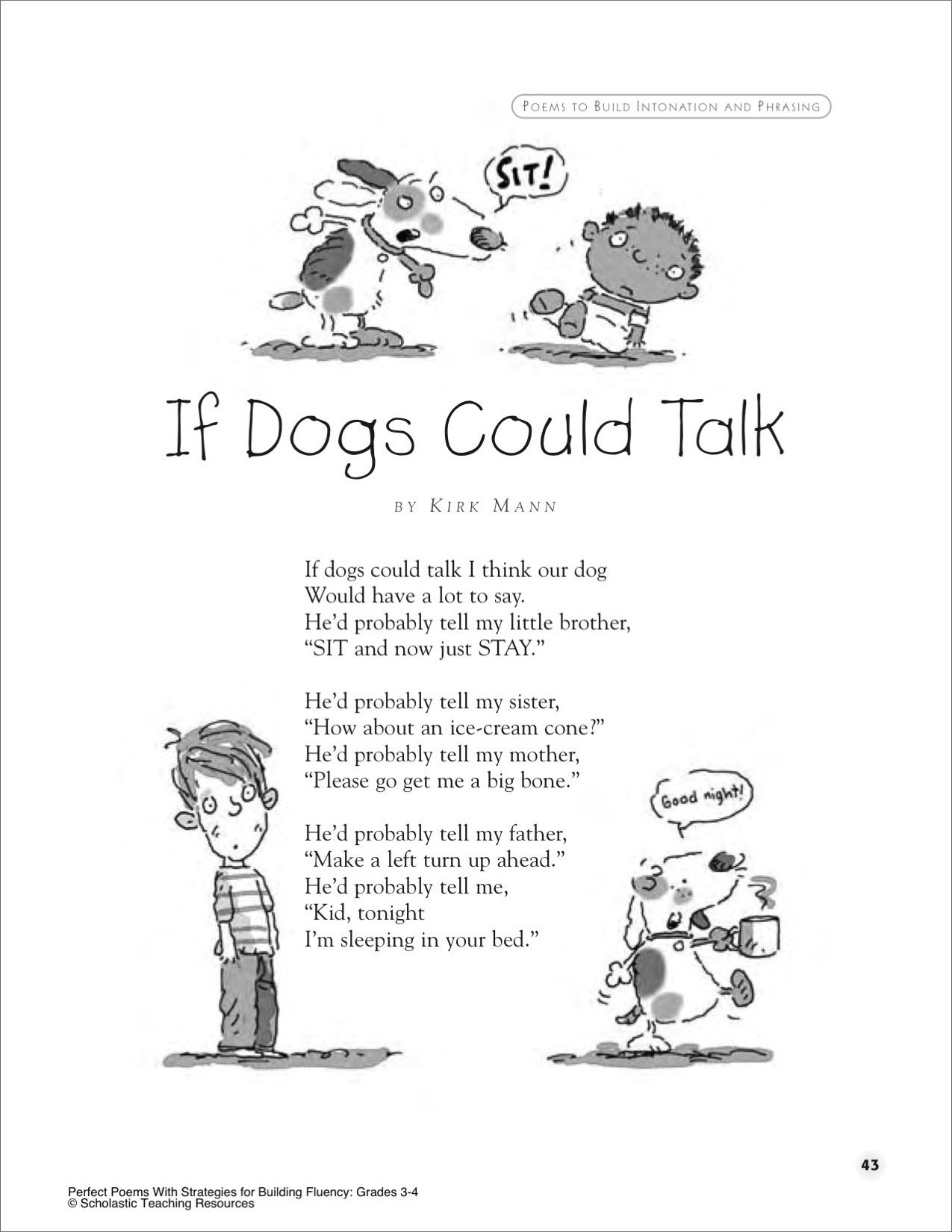 If Dogs Could Talk A Poem For Groups Printables Funny Poems