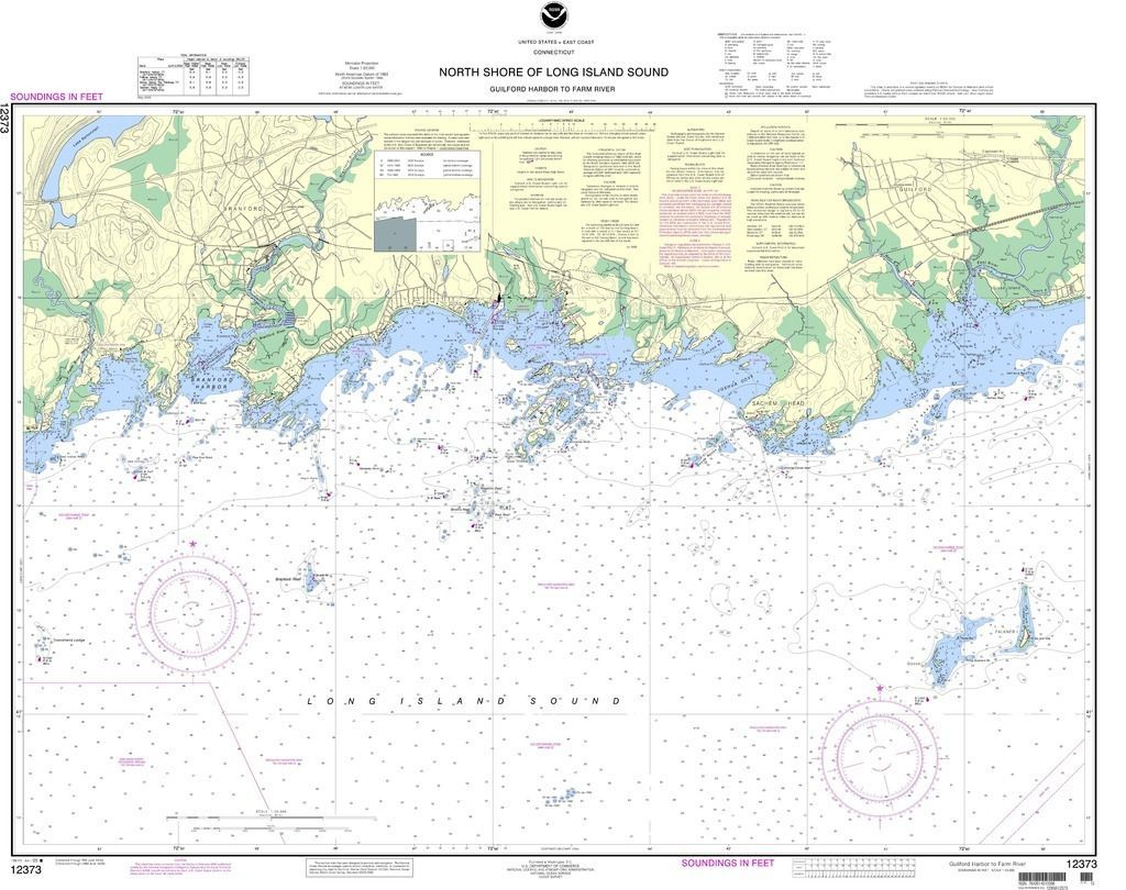 NOAA Nautical Chart 12373: North Shore of Long Island Sound Guilford Harbor to Farm River