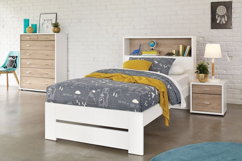 Hero King Single Bed Frame With Storage Headboard By Platform 10