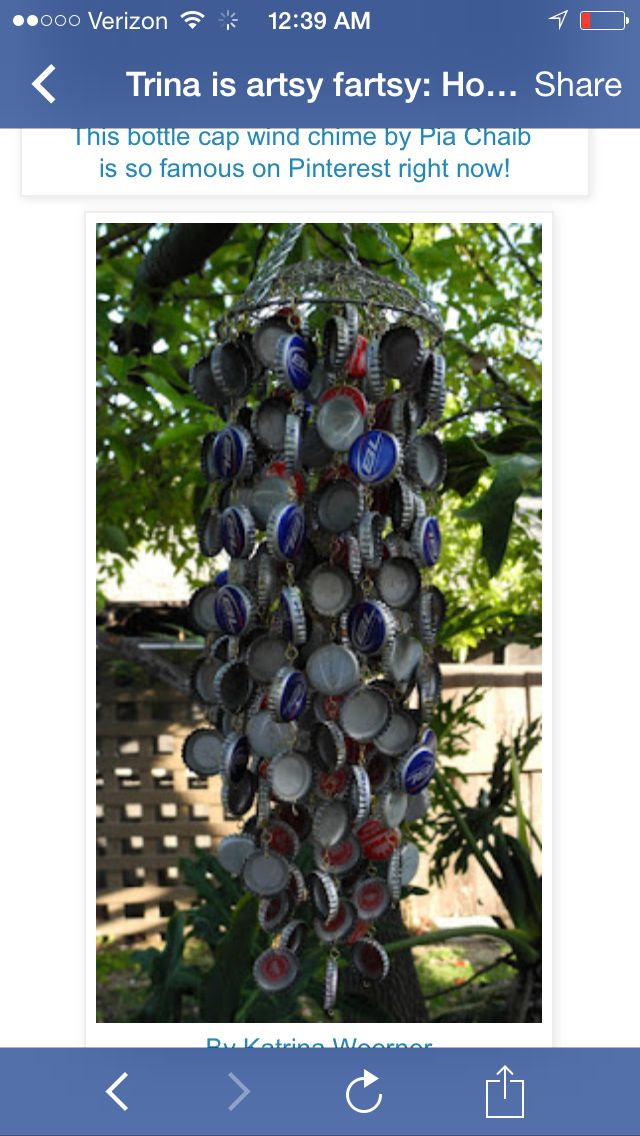Drink top wind chime