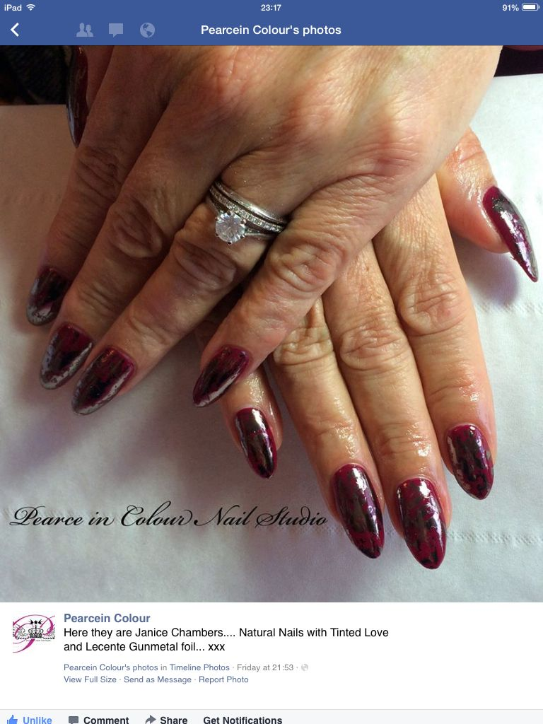 CND Shellac Tinted Love and Gunmetal Foil