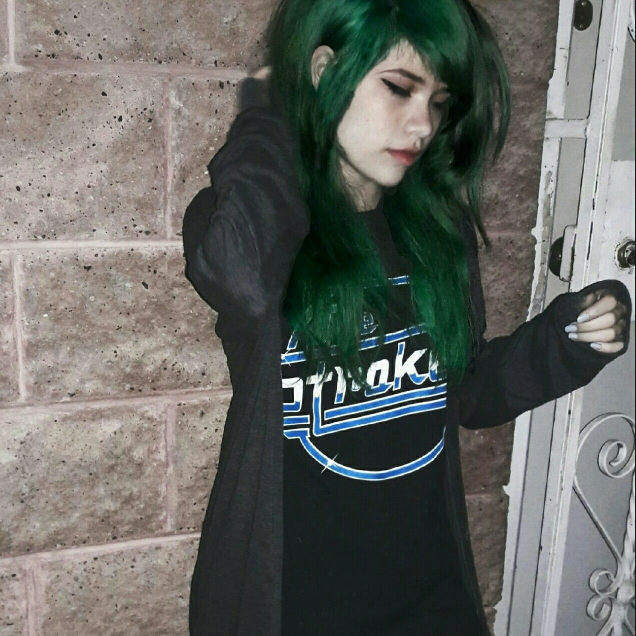 Green Hair Grunge Tumblr
