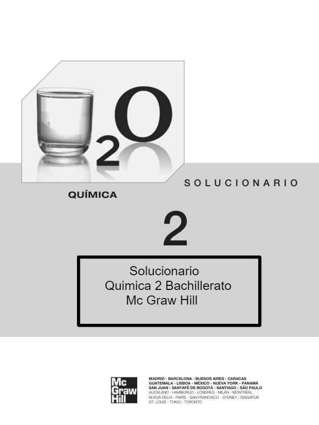 Solucionario Quimica 2 Bachillerato Mc Graw Hill Bachillerato Química Ejercicios Resueltos