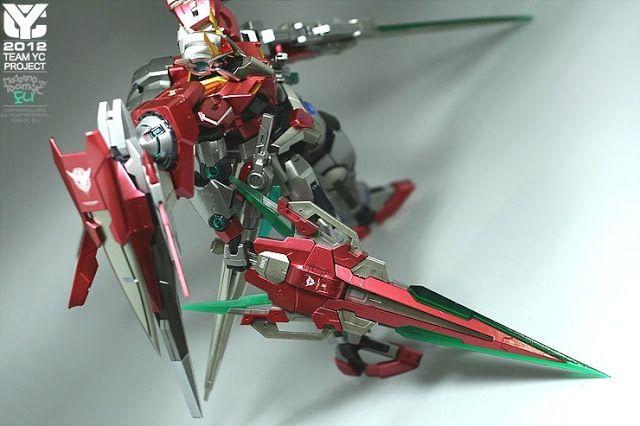 MG 1/100 00 Raiser with GN Sword IV Full Saber Custom Build - Gundam Kits Collection News and Reviews
