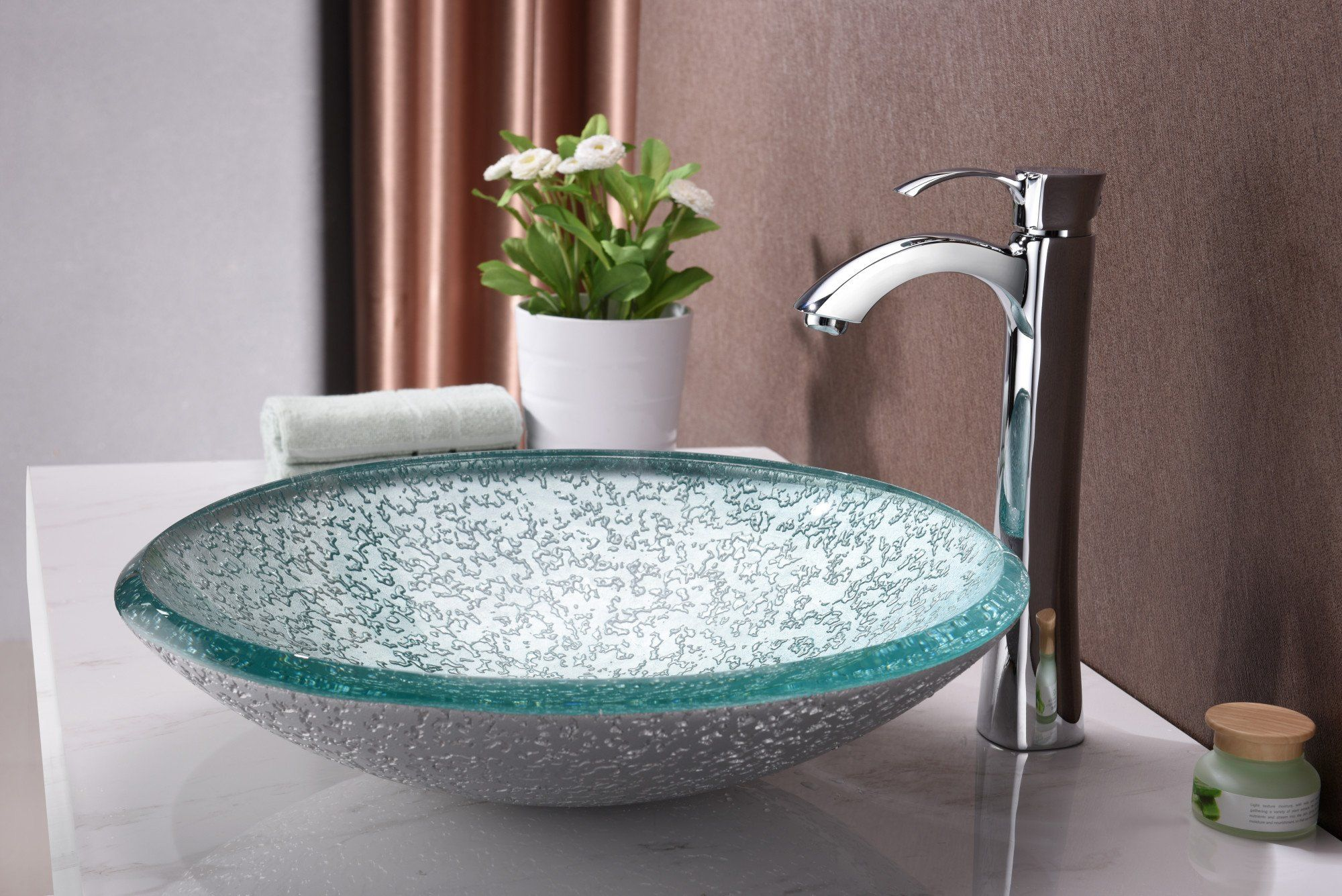ANZZI Arc Series LS-AZ208 Vessel Sink - Glass | Sink ...